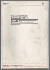 1991 VW T4 California and Multivan Workshop Manual
